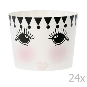 Sada 24 košíčkov na pečenie Miss Étoile Eyes And Dots