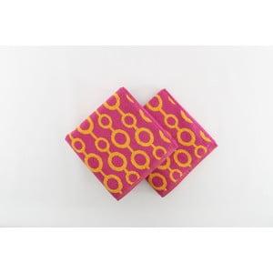 Sada 2 osušiek Crazy Vibes Orange, 50x100 cm