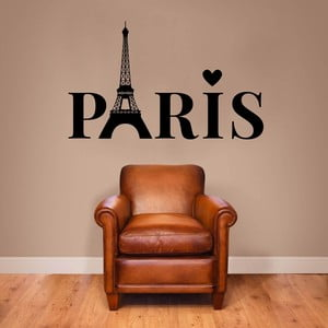 Samolepka na stenu Paris Lettering