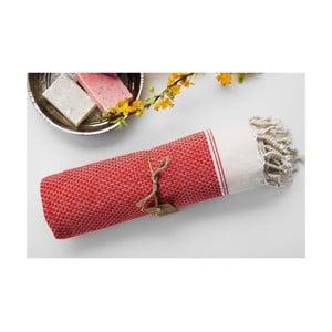 Hamam osuška Jacquard Red, 100x180 cm