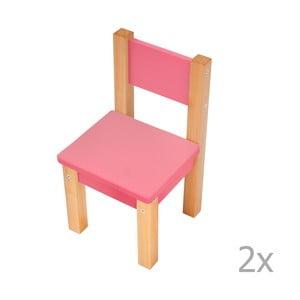 Sada 2 ružových detských stoličiek Mobi furniture Mario