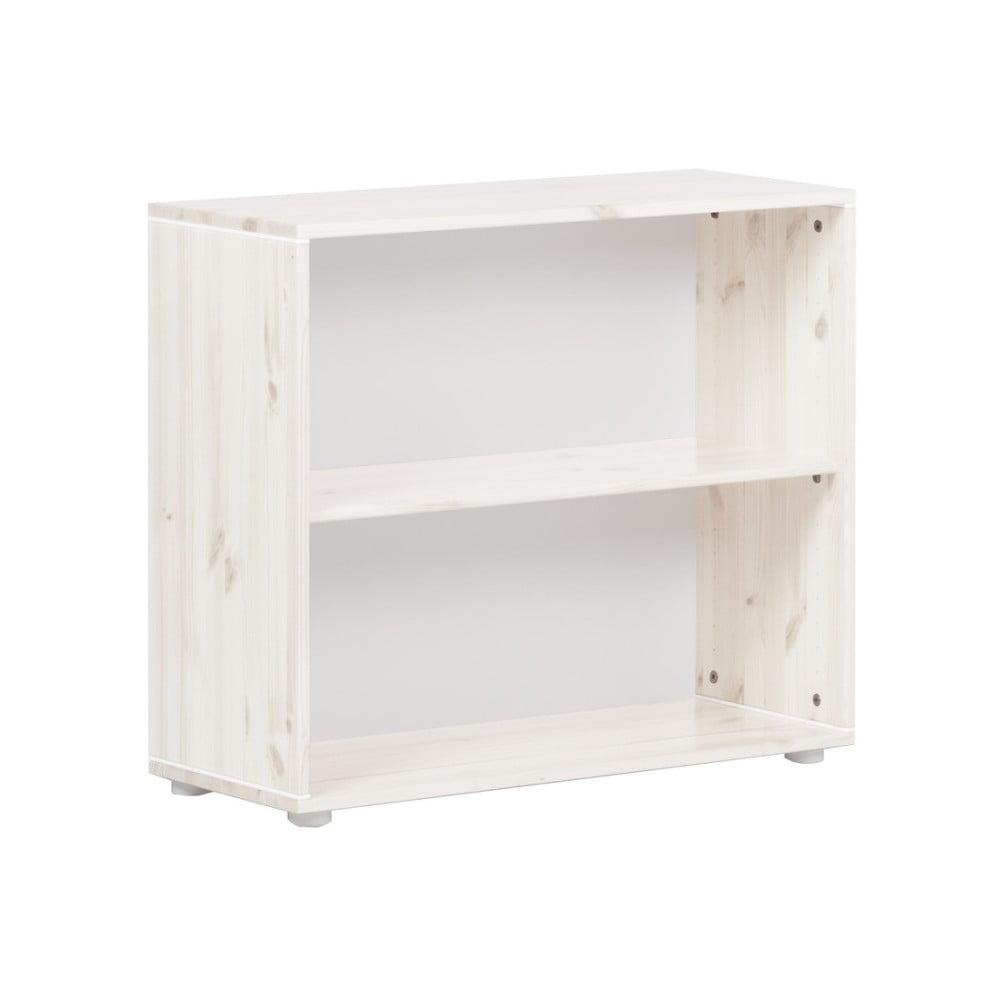 Biely detský policový diel z borovicového dreva Flexa Classic, šírka 86 cm