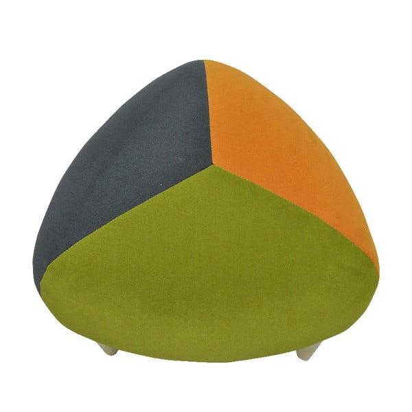 Taburetka Odo, zelenošedá