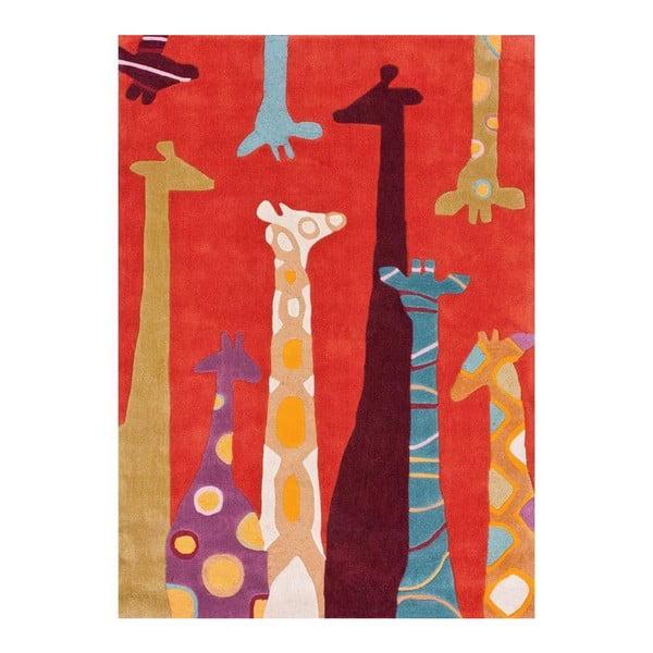 Ručne tuftovaný koberec nuLOOM Giraffe Red, 152 x 213 cm