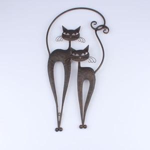 Hnedá dekorácia na stenu Dakls Cats II
