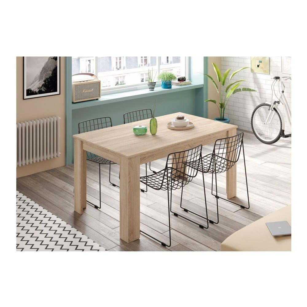Drevený jedálenský stôl Evegreen Houso Smile, 140 x 90 cm Je pre vás <b>jedáleň stredobod vesmíru</b> a túžite ju mať krásnu a moderne zariadenú?  Obráťte sa na značku Evergreen House.  <B>O značke</b>: Značka Evergreen House je strojcom moderného, ale súčasne cenovo dostupného nábytku.