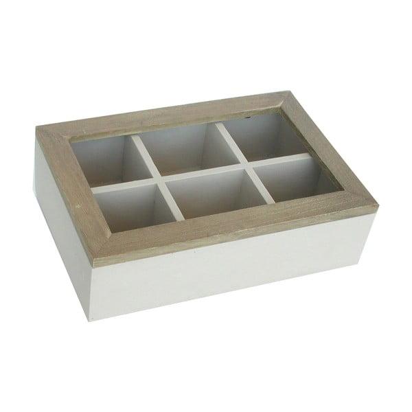 Krémová krabička na čaje Bolzonella