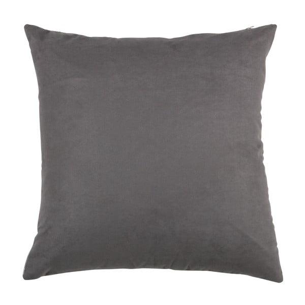 Sivý vankúš WOOOD Imke, 45 × 45 cm