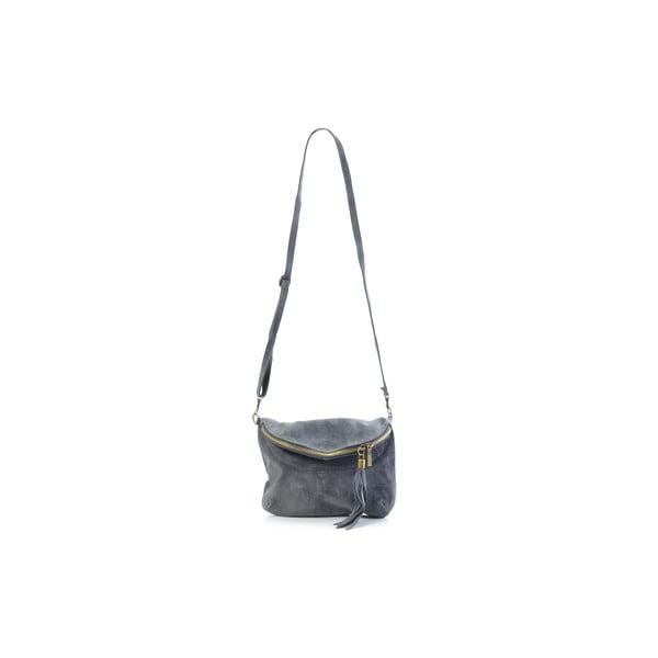 Kožená kabelka Julie, sivá