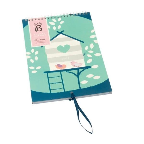 Nástenný kalendár Busy B Couples 2017