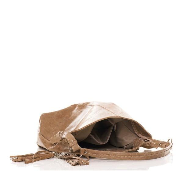 Kožená kabelka Hobo Taupe