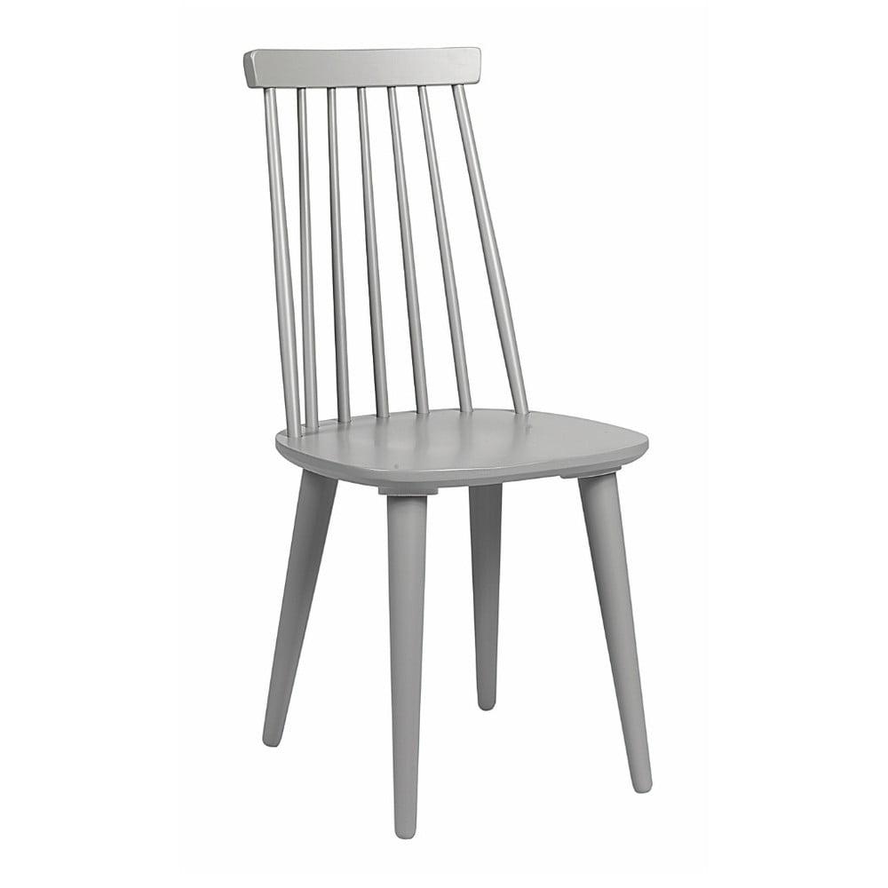 Svetlosivá jedálenská stolička z dreva kaučukovníka Rowico Lotta