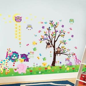 Samolepka na stenu Šťastné zvieratká