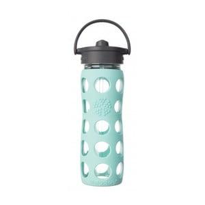 Sklenená fľaša na vodu so silikónovou slamkou a chráničom Lifefactory Navaho, 475 ml