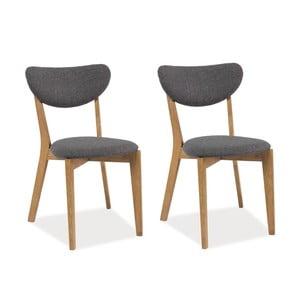 Sada 2 jedálenských stoličiek Andre Grey