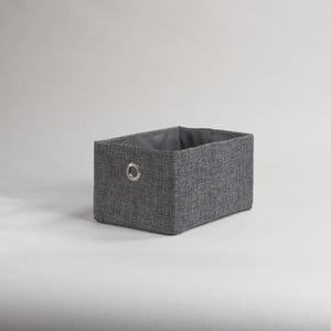 Sivý úložný kôš Compactor Bamboo Rujo, 23 x 15 x 12 cm