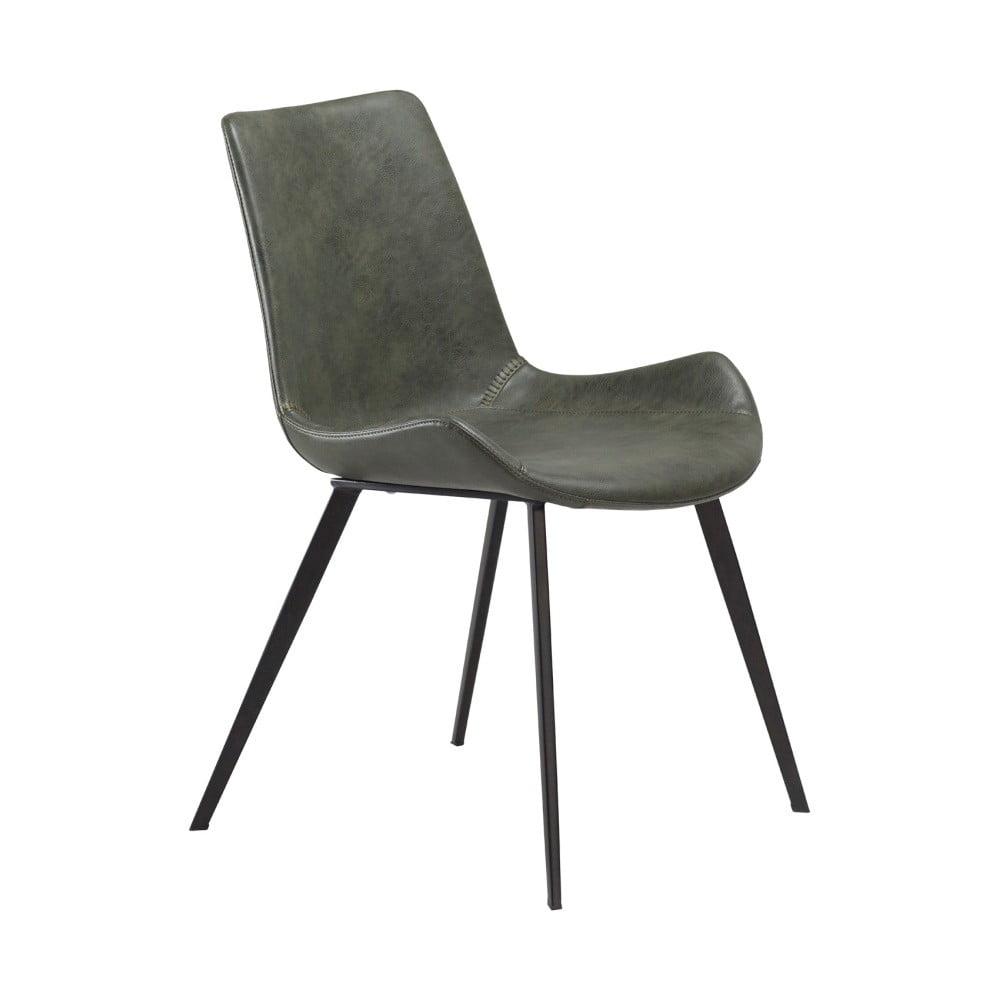 Zelená jedálenská stolička z eko kože DAN–FORM Denmark Hype