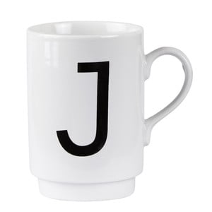 Porcelánový písmenkový hrnček KJ Collection J