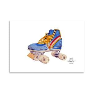 Autorský plagát Roller Skate, 30x42 m