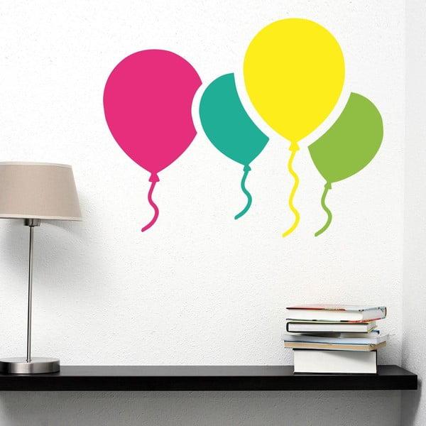 Samolepka na stenu Colorful Baloons