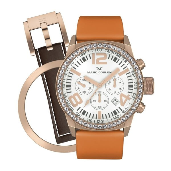 Dámske hodinky Marc Coblen s remienkom a krúžkom na ciferník naviac P24