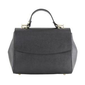 Čierna kožená kabelka Chicca Borse Ashlee
