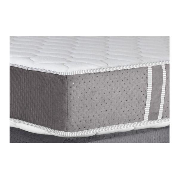 Sivá posteľ s matracom Stella Cadente Maison Syrius, 140×200cm
