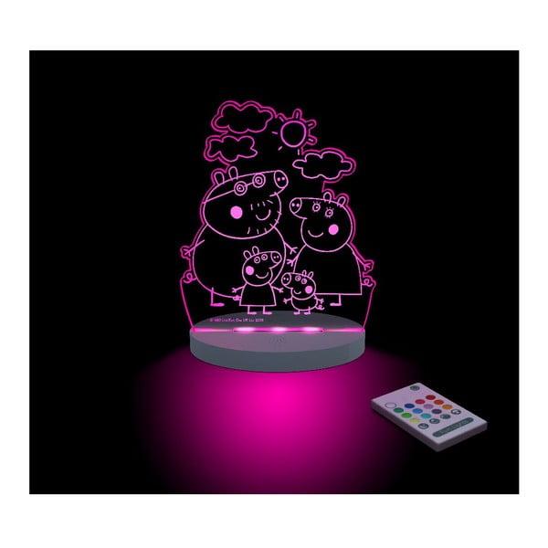 Detské LED nočné svetielko Peppa Pig Familia