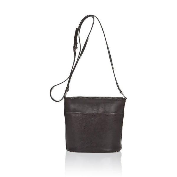Čierna kožená kabelka Markese Severina