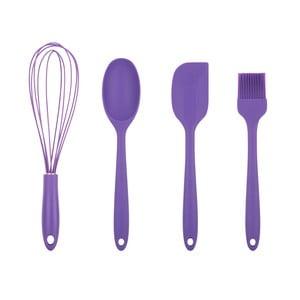 Sada 4 fialových kuchynských pomôcok Tantitoni Bake It