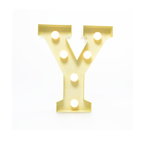 Dekoratívne svetlo Carnival Y, vanilkové
