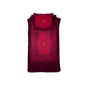 Červené bavlnené posteľné obliečky Damai Salome Carmine, 200×140 cm