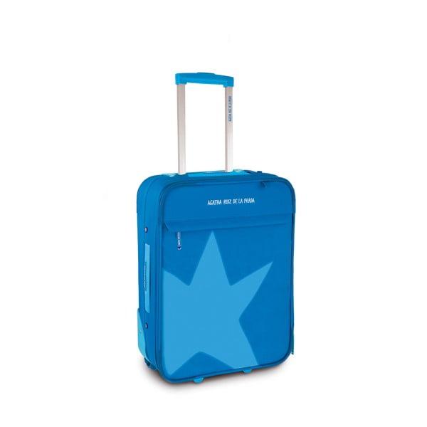 Kufor Agatha 36x50x20 cm, modrý