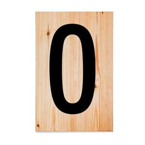 Drevená ceduľa Letters O