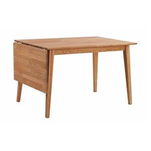 Prírodný sklápací dubový jedálenský stôl Folke Mimi, dĺžka 120-145 cm