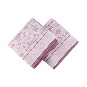 Sada 2 fialových uterákov Hurrem, 50x90cm