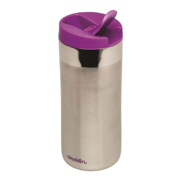 Antikoro termohrnček s fialovým viečkom Aladdin Flip-Seal ™, 350ml