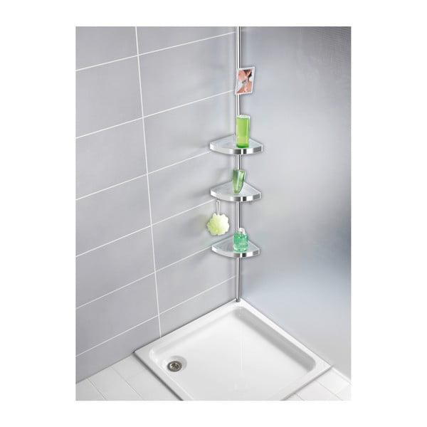 Svetlá teleskopická nástenná polička do kúpeľne Wenko Premium