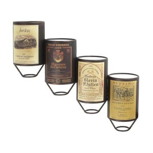 Nástenný stojan na vína, 20x11x52,5 cm
