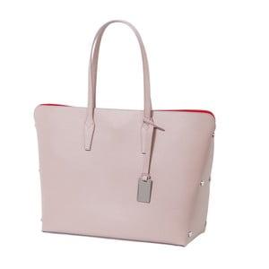 Púdrovoružová kabelka z pravej kože Andrea Cardone Eulalia
