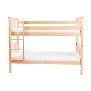 Detská poschodová posteľ z masívneho bukového dreva Mobi furniture David, 200×90cm