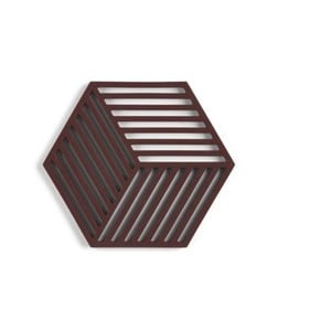 Červenohnedá silikónová podložka pod hrniec Zone Hexagon