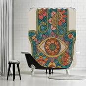 Kúpeľňový záves Hamsa, 180x180 cm