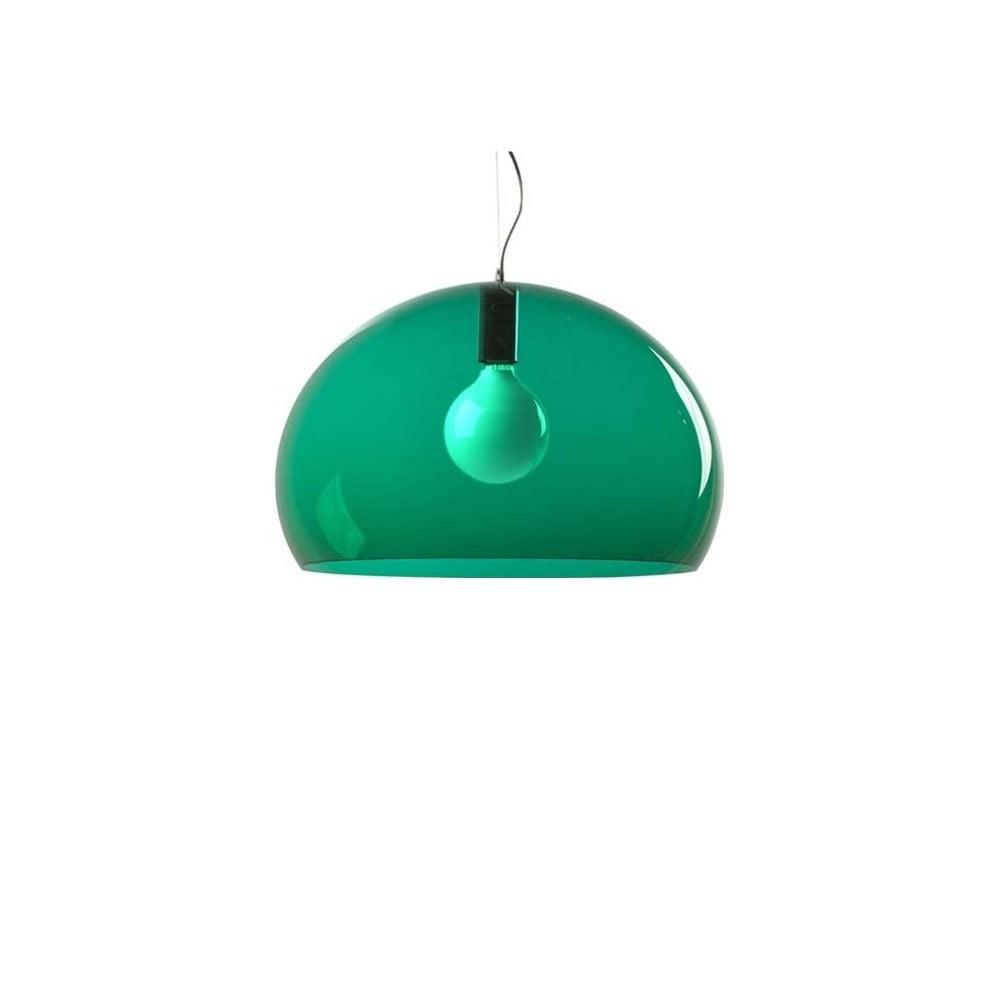 Zelené stropné svietidlo Kartell Fly, ⌀ 52 cm
