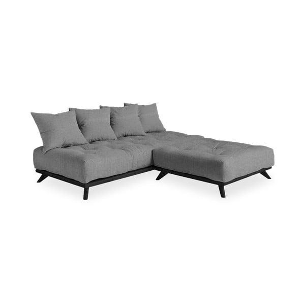 Pohovka so sivým poťahom Karup Design Senza Black/Granite Grey