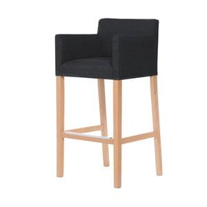 Tmavosivá barová stolička s hnedými nohami Ted Lapidus Maison Sillage