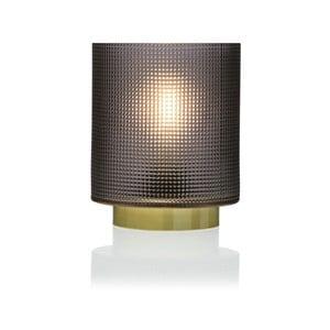Sivá sklenená olejová LED lampa Versa Relax, ⌀11,8 cm