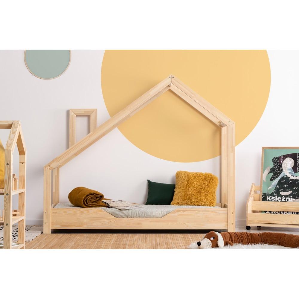 Domčeková posteľ z borovicového dreva Adeko Luna Bek, 70 x 180 cm