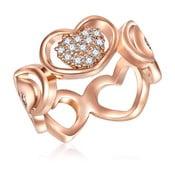 Dámsky prsteň vo farbe ružového zlata Tassioni Lovers, 52