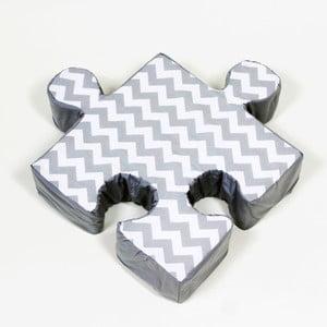 Sivý vankúšik Puzzle ZygZag